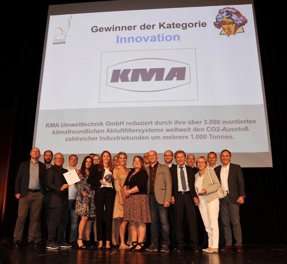 KMA Umwelttechnik bei der Preisverleihung des großen Mittelstandspreises Ludwig 2018 in der Kategorie Innovation