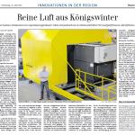"""General Anzeiger berichtet über """"Reine Luft aus Königswinter"""""""
