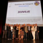 KMA Umwelttechnik als Gewinner des Mittelstandspreises Ludwig 2018 auf der Bühne