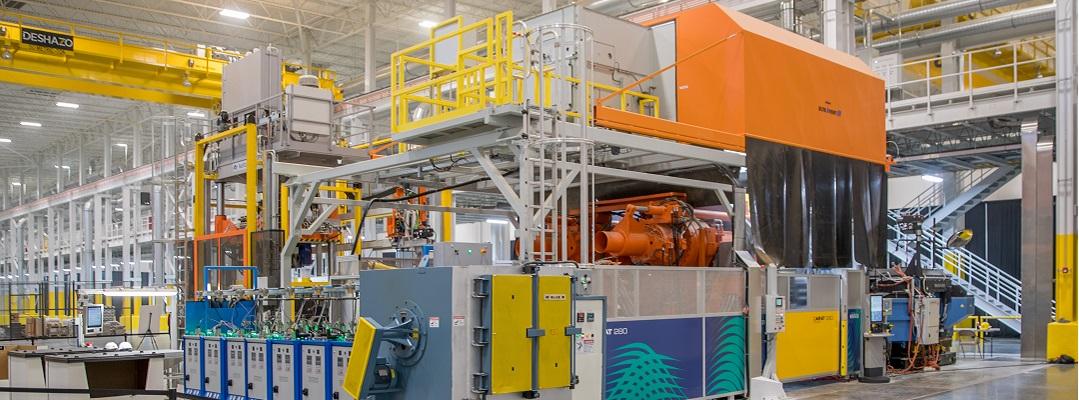 Diese moderne Druckgießzelle hat ein Abluftvolumen von 20.000 m3/h und ist mit einer eigenen KMA Raucherfassungshaube und Filtersystem ausgestattet.