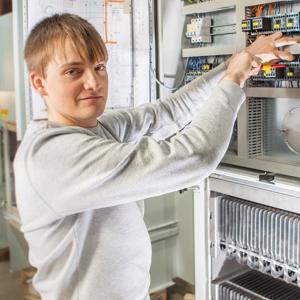 Auszubildender bei KMA Umwelttechnik