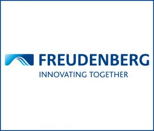 Firmenlogo des Textilunternehmens Freudenberg