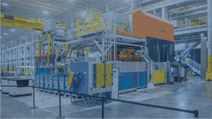 KMA Abluftfiltersystem auf einer Gießmaschine installiert