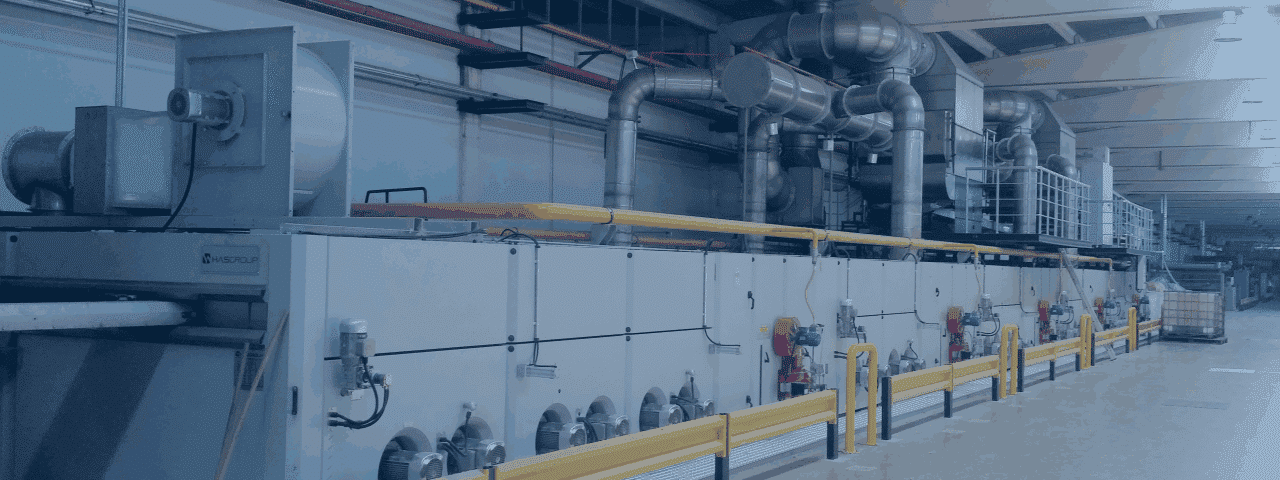 Abluftlösungen für Spannrahmen in der Textilindustrie von KMA Umwelttechnik