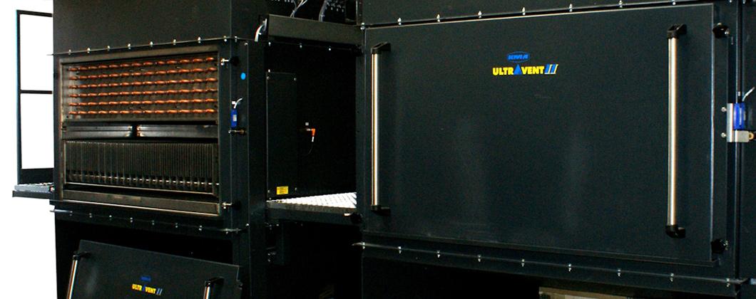 KMA Filtersysteme bestehend aus Elektrofilter und Wärmetauscher