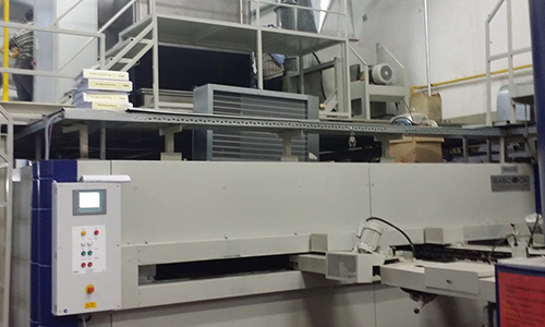 KMA Ultravent Absaugsystem am Spannrahmen