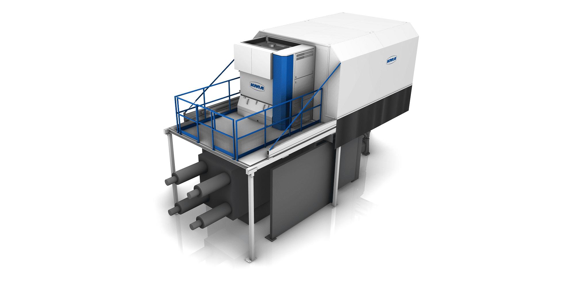 KMA ULTRAVENT Filtersystem und Absaughaube über einer Druckgießmaschine