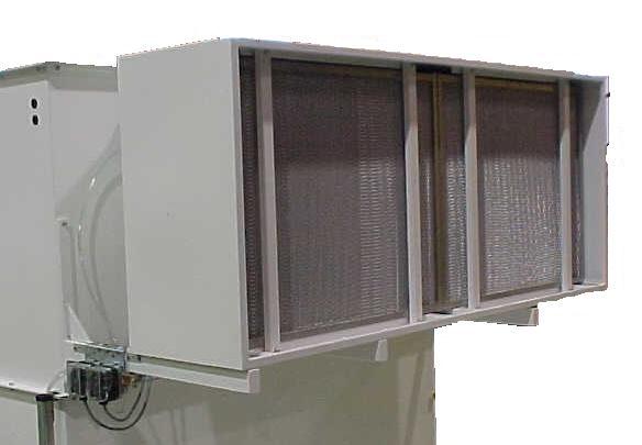 Freiliegende Hepa-Kasetten beim mechanischen Filter